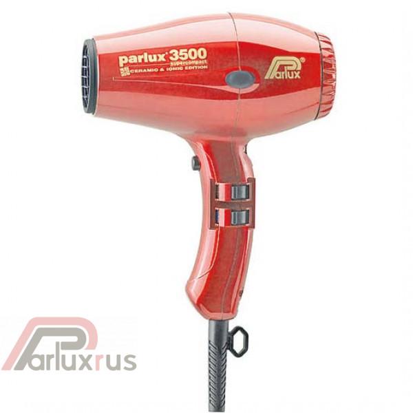 Профессиональный фен Parlux 3500 Supercompact 0901-3500 ion red